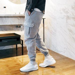 Drawstring Pocket-accent Elastic-cuff Pants