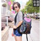 Print Faux Leather Backpack