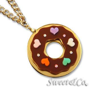 Kandy X Sweet&co. Minit Swarovski Donut Necklace Gold - One Size