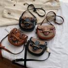Leopard Faux Leather Crossbody Bag