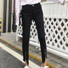Zip Slit Skinny Jeans