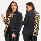 Tie-neck Leopard Printed Shirt