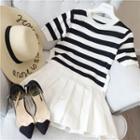 Striped Short Sleeve Knit T-shirt