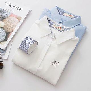 Dragonfly Embroidered Shirt