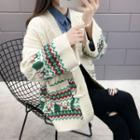 Cable Knit Patterned Cardigan