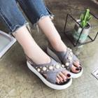Platform Embellished Sandals