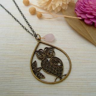Forest Owl Necklace Copper - One Size
