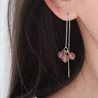 925 Sterling Silver Bead Dangle Earring