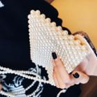 Faux Pearl Crossbody Bag White - One Size