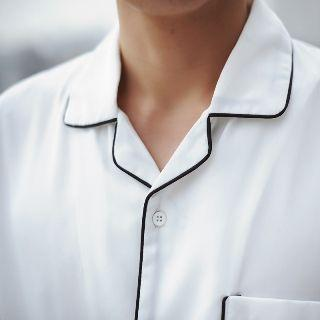 Short-sleeve Contrast Piping Shirt