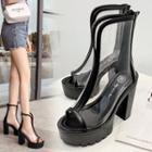 Transparent Platform High Heel Sandals