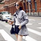 Smocked Trench Coat