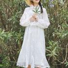 Set: Ruffled Blouse + Sleeveless Lace Dress