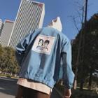 Applique Denim Hooded Jacket