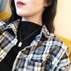 Double Tag Necklace L200 - Platinum - One Size