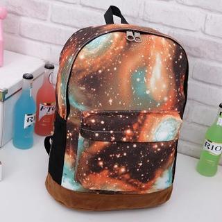 Galaxy Print Canvas Backpack