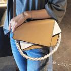 Faux Leather Color Block Shoulder Bag