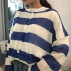 Long Sleeve Striped Knit Cardigan