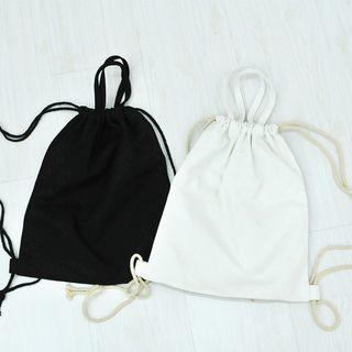 Plain Canvas Drawstring Canvas Backpack