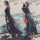 Long-sleeve Maxi Sun Dress