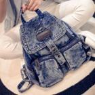Denim Flap Backpack