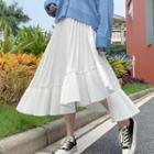Midi Asymmetric Pleated Skirt