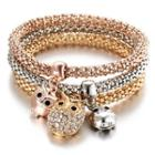 Owl Drop Bracelet Set