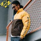Patchwork Lettering Padded Jacket