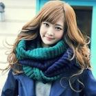 Two-tone Circle Knit Scarf
