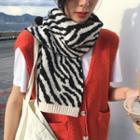 Zebra Print Scarf Zebra -
