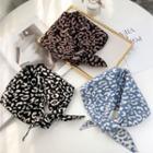 Leopard Print Yarn Triangle Shawl