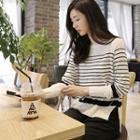 Stripe Dip-back Knit Top
