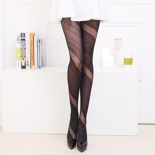 Patterned Jacquard Tights