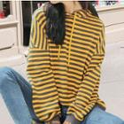 Striped Letter Hoodie