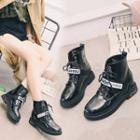 Platform Strapped Ankle Boots