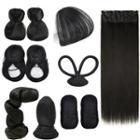 Retro Hair Bun / Hair Fringe / Hair Extension