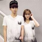 Couple Matching Short-sleeve Print T-shirt