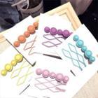 Set Of 3: Matte Hair Pin (assorted Designs)