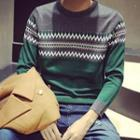 Color Block Patterned Sweater