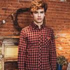Brushed-fleece Plaid Shirt