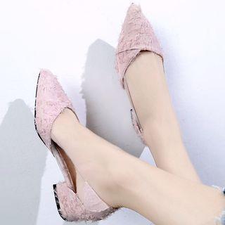 Pointy-toe Fringed Flats