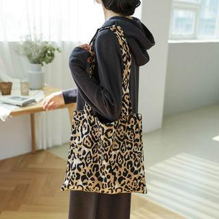 Leopard Shopper Bag Beige - One Size