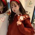 Christmas Pattern Collar Sweater
