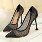Mesh Pointy Stilettos