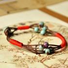 Woven Strappy Beaded Bracelet