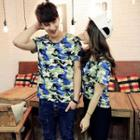 Camouflage-printed T-shirt