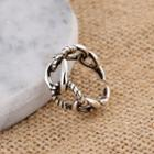 Alloy Open Ring Adjustable - Silver - One Size
