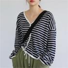 Striped Linen Cardigan