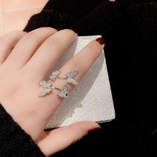 Butterfly Ring Silver - One Size