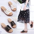 Wedge Cutout Slide Sandals